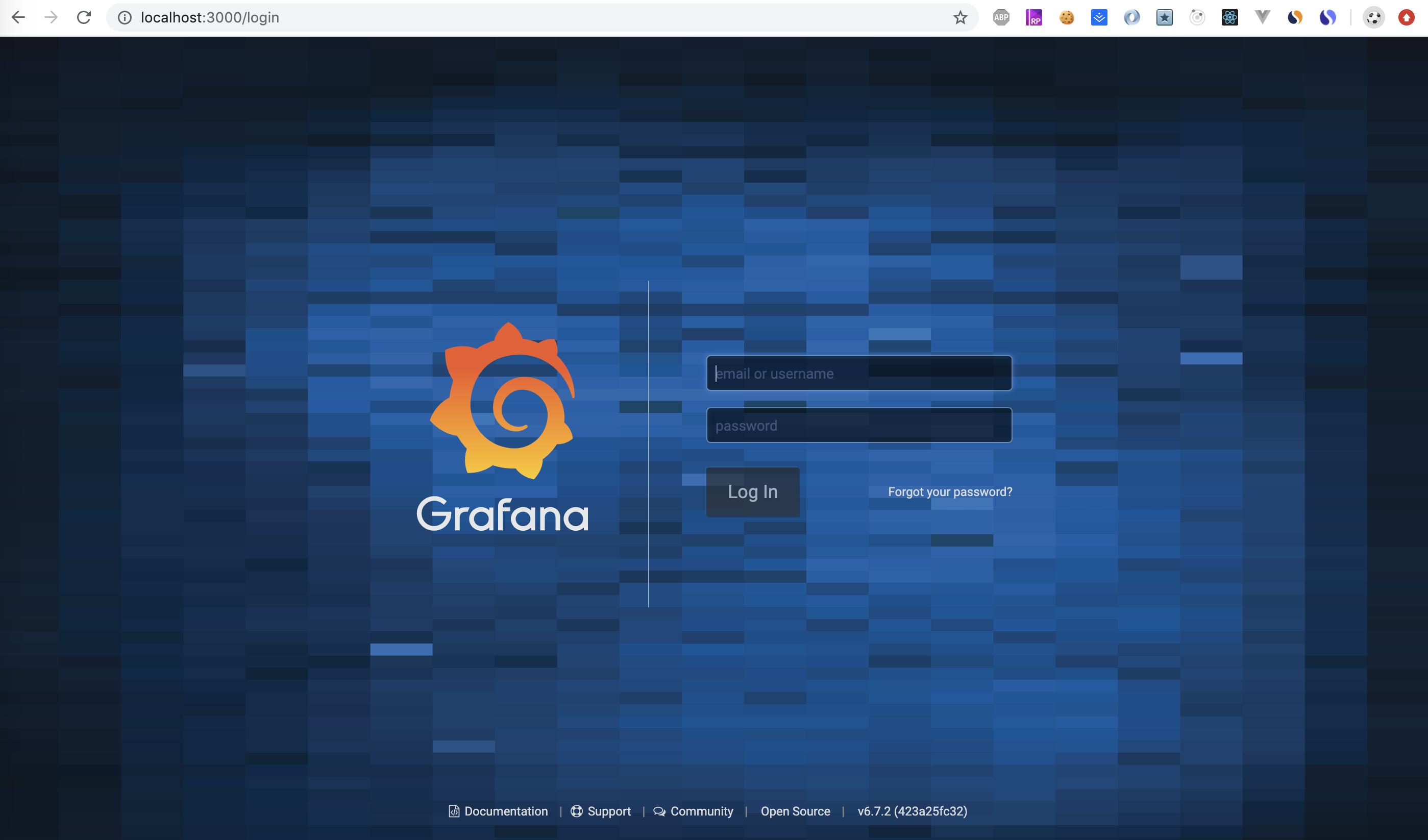 grafana 首次打开